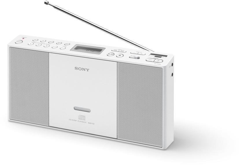 SONY mp3/CD/Radio přehrávač ZS-PE60,USB,bílý (ZSPE60W.CET)