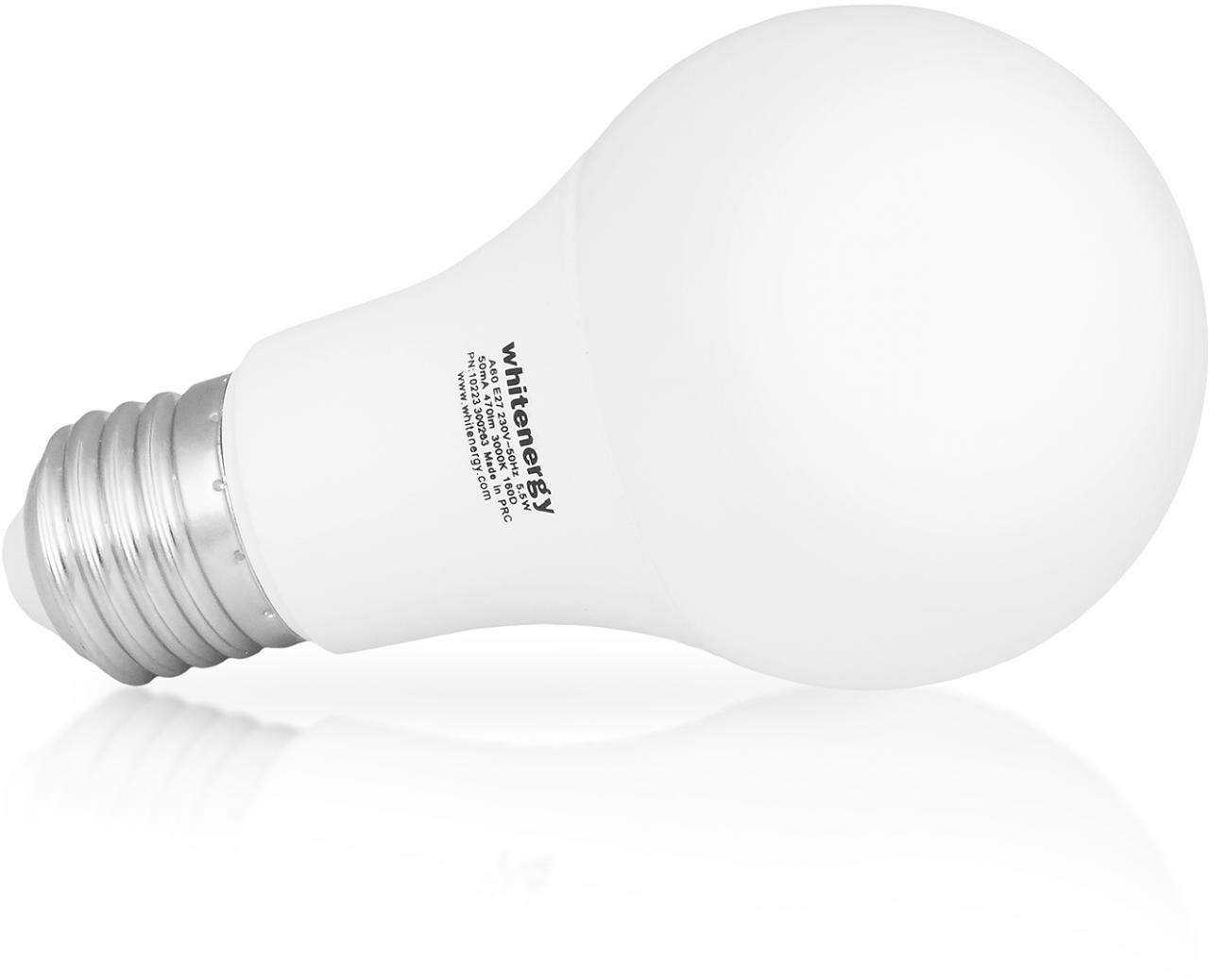 Fotografie Whitenergy LED žárovka | E27 | 15 SMD2835 | 12W | 230V tepla bílá | A60