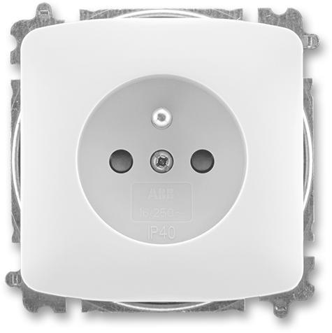 ABB Tango zásuvka 1-násobná s clonkami bezšroub. bílá (5519A-A02357 B)