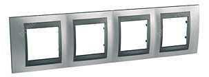 Schneider Electric Top rámeček 4-násobný Cromo mat/Grafit (MGU66008238)