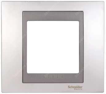 Schneider Electric Top rámeček 1-násobný Cromo mat/Grafit (MGU66002238)