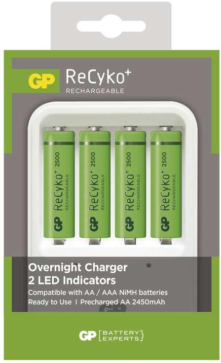 GP BATERIE Nabíječka baterií GP PB420 + 4xAA RECYKO (2500mAh) (1604142000)