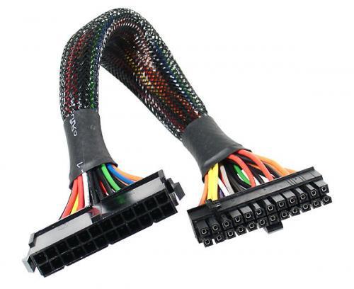 AKASA Prodlužovací kabel 24 pin(M) na 20+4 pin(F) - 30cm (AK-CB24-24-EXT)