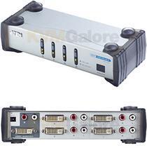 ATEN DVI video přepínač 4 PC - 1 DVI monitor+4xcin (VS-461)