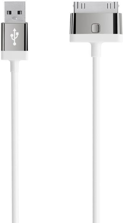 BELKIN MIXIT UP 30-Pin - USB kabel, bílý, 2m (F8J041cw2M-WHT)