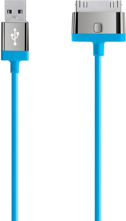 BELKIN MIXIT UP 30-Pin - USB kabel, modrý, 2m (F8J041cw2M-BLU)