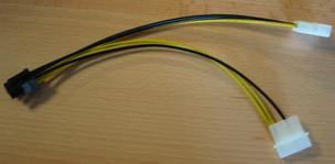 GEMBIRD Redukce 6 PIN konektoru pro PCI-E karty ze zdroje (CC-PSU-6)