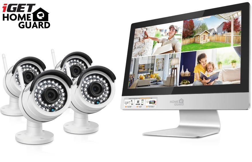 """IGET HGNVK49004 - CCTV bezdrátový WiFi set HD 960p s LCD displejem 12"""", 4CH NVR + 4x IP kamera 960p (HGNVK49004)"""
