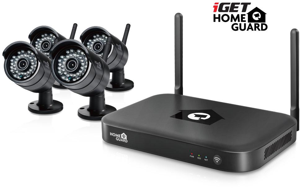 IGET HGNVK88304 - CCTV bezdrátový WiFi set FullHD 1080p, 8CH NVR + 4x IP kamera 1080p, i RJ45 (HGNVK88304)