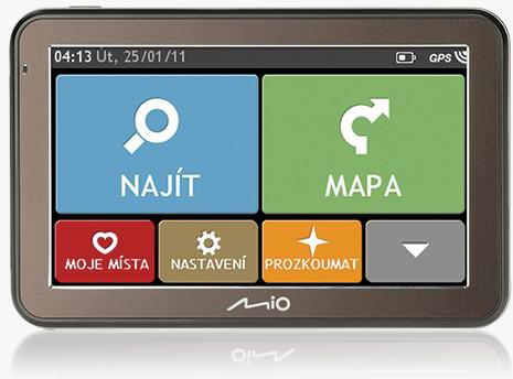 "MIO Spirit 7100 GPS navigace, LCD 5"", mapy CZ/SK Lifetime (5413N5020073)"