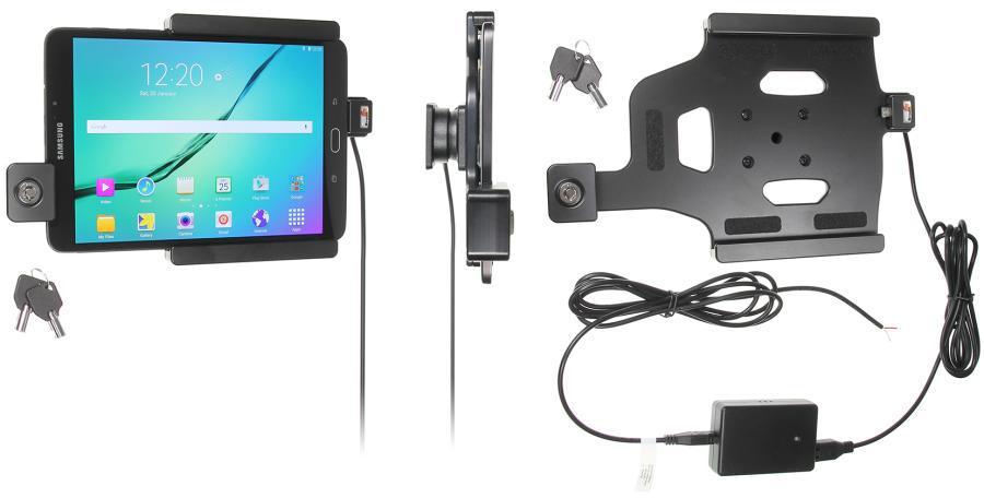 BRODIT držák do auta na Samsung Galaxy Tab S2 8.0 bez pouzdra, se skrytým nabíjením, zámek (PBR-536781)