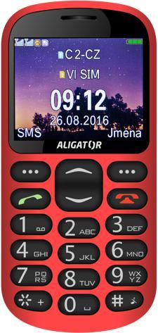 ALIGATOR A880 GPS Senior červený +st. nab. (A880RD)
