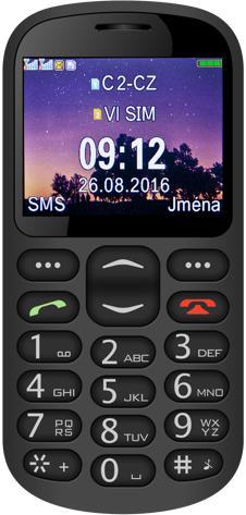 ALIGATOR A880 GPS Senior černý +st. nab. (A880BK)