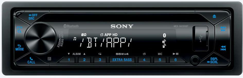 Fotografie SONY přehrávač do auta MEX-N4300BT, BT, NFC,AUX,CD (MEXN4300BT.EUR)