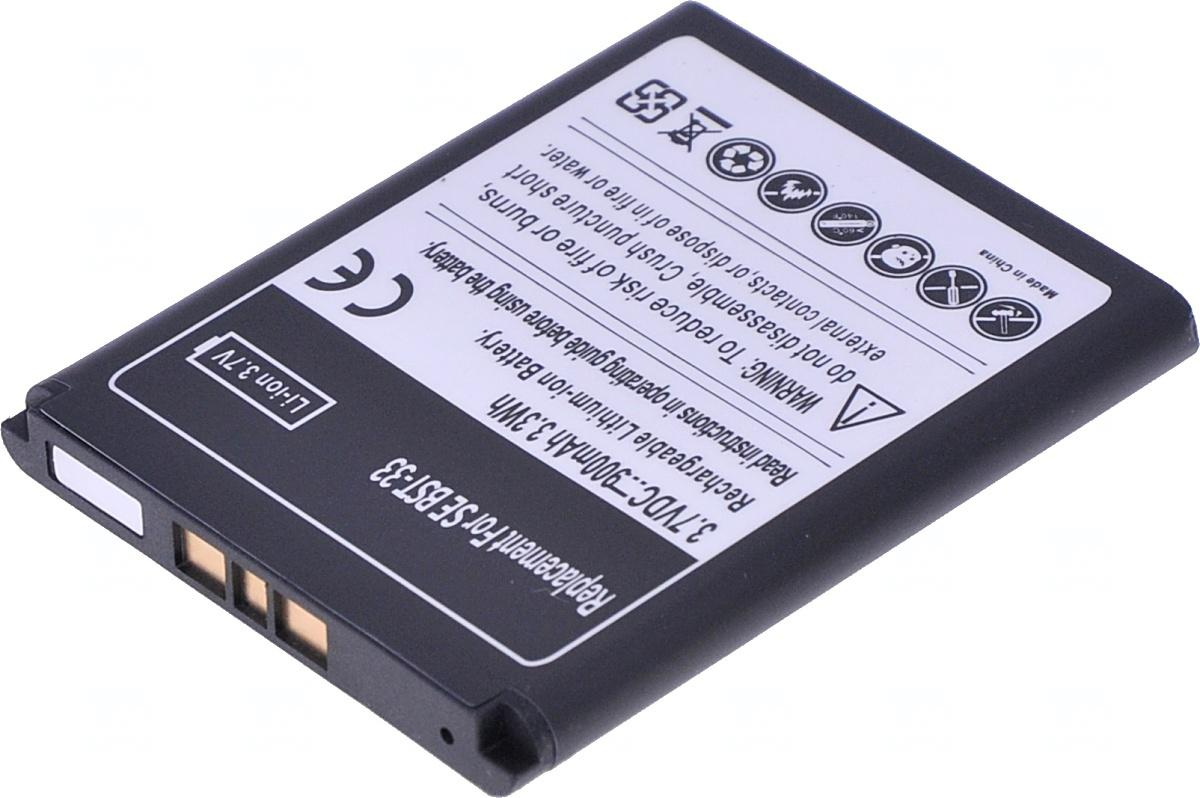 T6 POWER Baterie T6 power Sony Ericsson K800, J100, K550, K790, M600, P990i, W300i, W850i, 900mAh (MTSE0005)