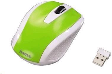 Hama bezdrotová optická myš AM-7200, bielo-zelená (86535)