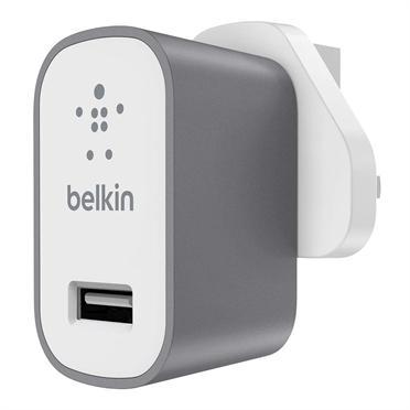 Fotografie BELKIN MIXIT Metallic USB nabíječka 2.4A, šedá (F8M731vfGRY)