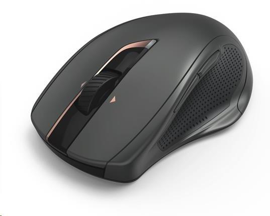Hama bezdrotová laserová myš MW-800, 7 tlačidiel, auto DPI, tichá, čierna (182669)