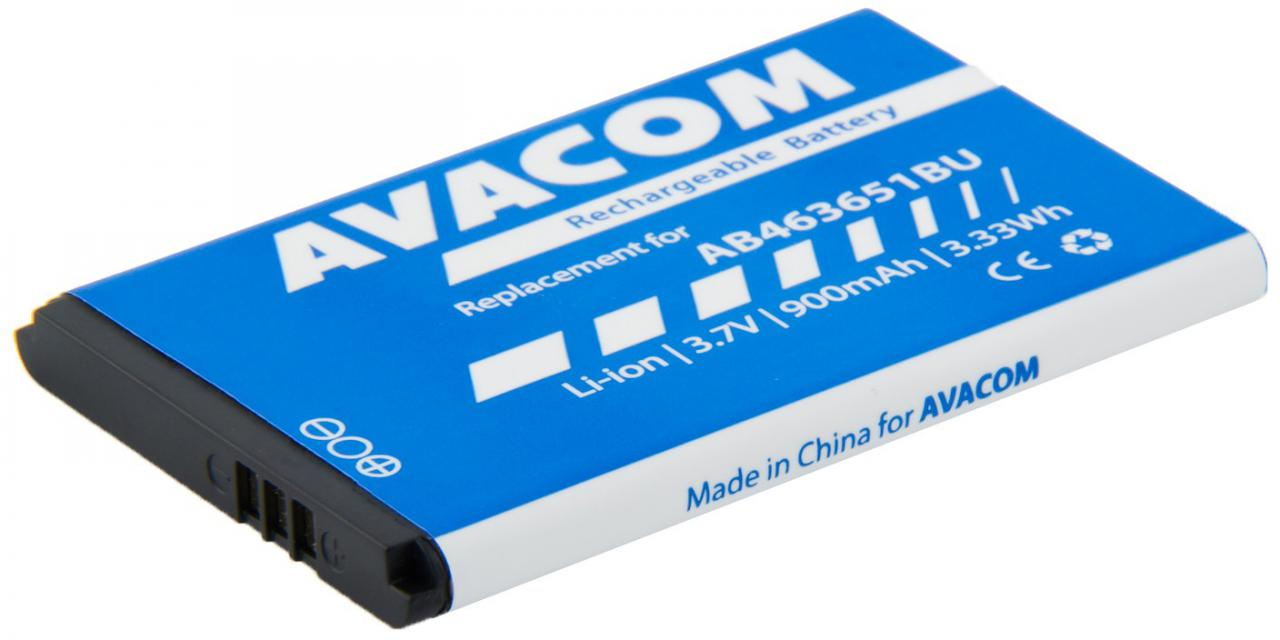 Fotografie Avacom pro Samsung B3410 Corby plus Li-Ion 3,7V 900mAh (náhrada AB463651BU) (GSSA-S5610-900)