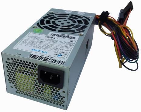 Fotografie EUROCASE zdroj 200W TFX-200W 8cm fan, PFC ATX 20/24pin, 2x SATA