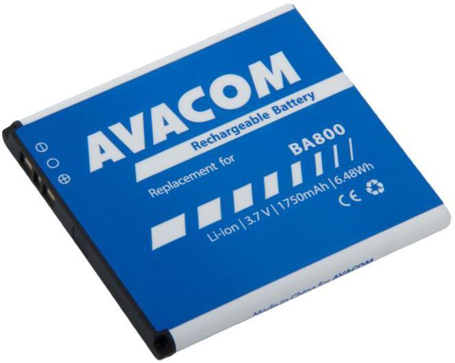 AVACOM Baterie AVACOM GSSO-BA800-S1750 do mobilu Sony Ericsson Li-Ion 3,7V 1750mAh (náhrada BA800) (GSSO-BA800-S1750)