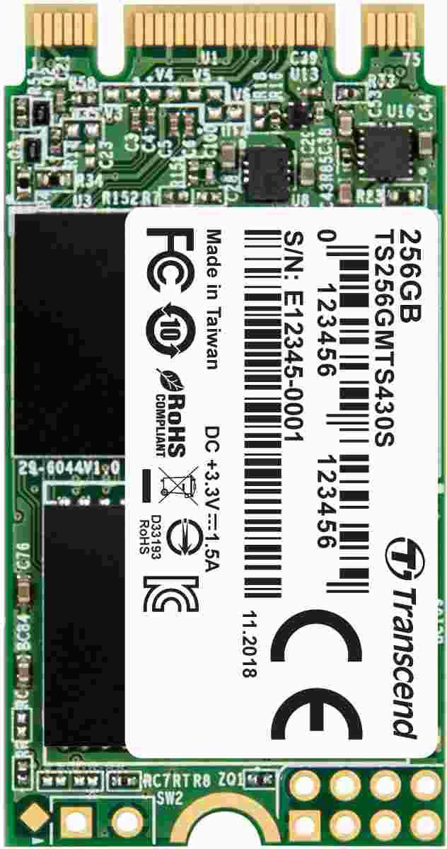 Transcend Industrial SSD MTS430S 256GB, M.2 2242, SATA III 6Gb/s, TLC (TS256GMTS430S)