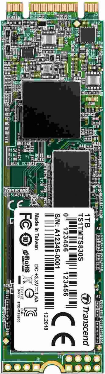 Transcend SSD MTS830S 1TB, M.2 2280, SATA III 6Gb/s, TLC, bulk (TS1TMTS830S)