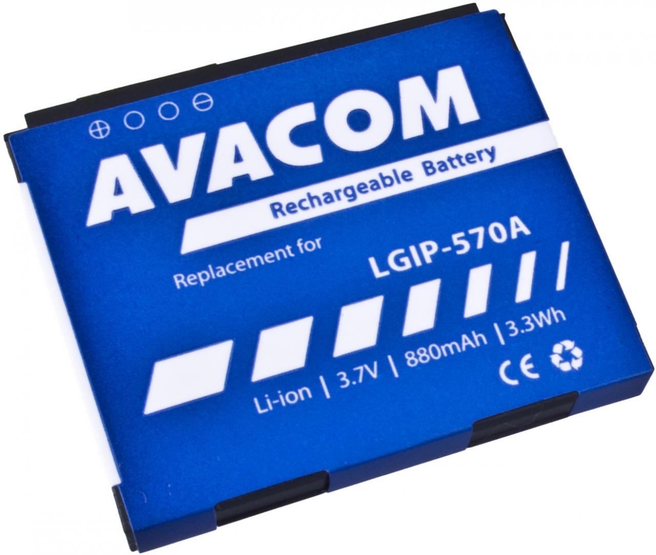 AVACOM Baterie AVACOM GSLG-KP500-S880A do mobilu LG KP500 Li-Ion 3,7V 880mAh (náhrada LGIP-570A) (GSLG-KP500-S880A)