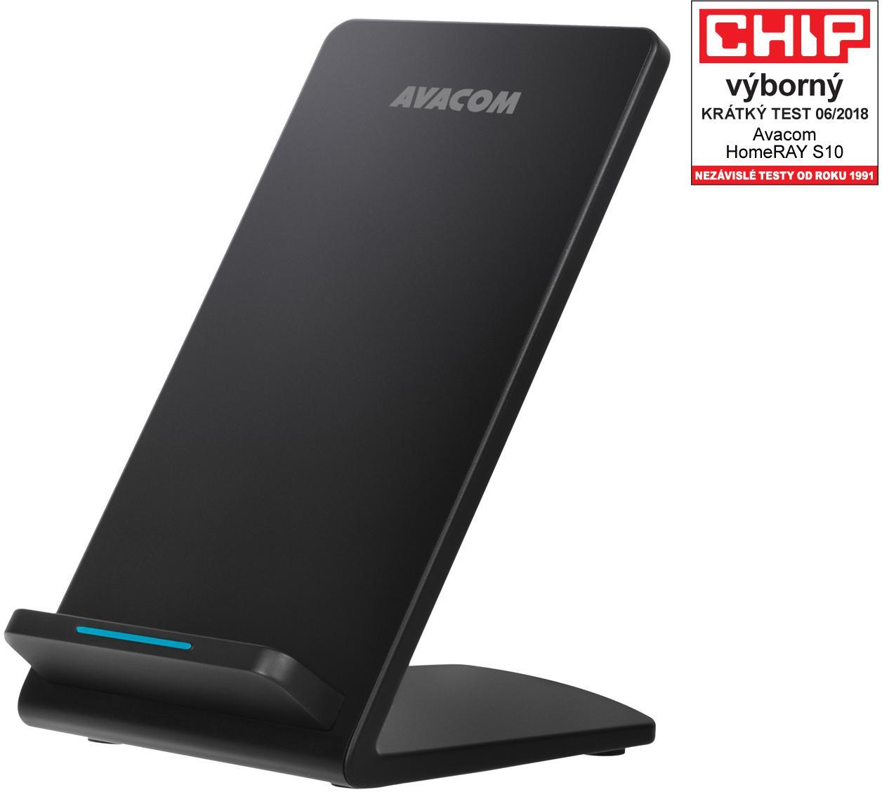 AVACOM HomeRAY S10 bezdrátová nabíječka stojánek, černá (HomeRAY S10)