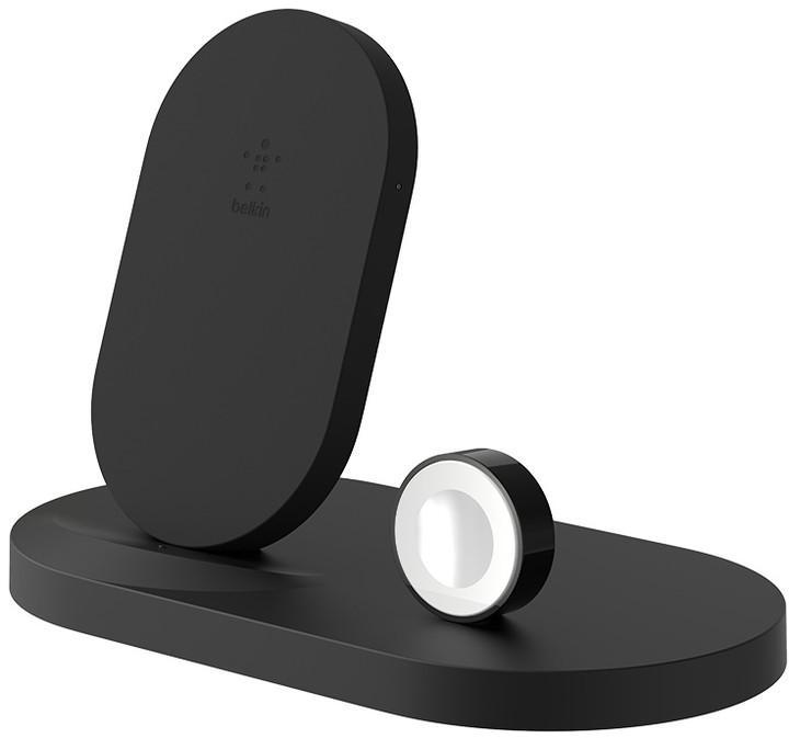 BELKIN bezdrátová QI nabíječka, 7.5W, pro Apple Watch/iPhone, s USB, černá (F8J235vfBLK)