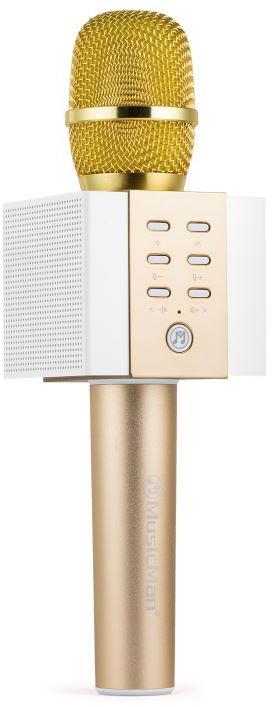 Technaxx ELEGANCE bluetooth karaoke mikrofon, 2x5W repro, zlatá (BT-X45) (4813)