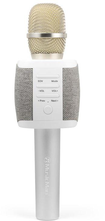 Technaxx FABRIC bluetooth karaoke mikrofon, 2x5W repro, šedá (BT-X44) (4810)
