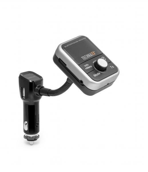 Technaxx FM transmitter + MP3 přehrávač + Bluetooth + DAB+, LCD display (FMT1000BT) (4650)