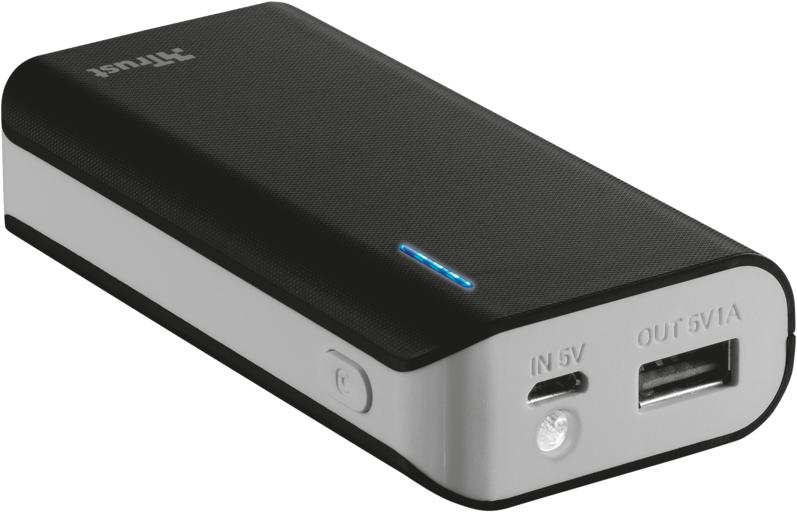 TRUST Primo PowerBank 4400 Portable Charger - black (21224)