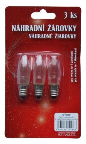 žárovka náhradní k vánočnímu svícnu (3ks) (C54046)