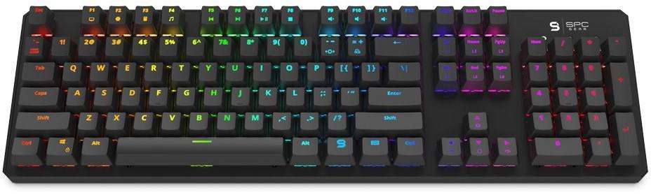 SilentiumPC SPC Gear klávesnice GK540 Magna / mechanická / Kailh Blue / RGB podsvícení / US layout (SPG019)