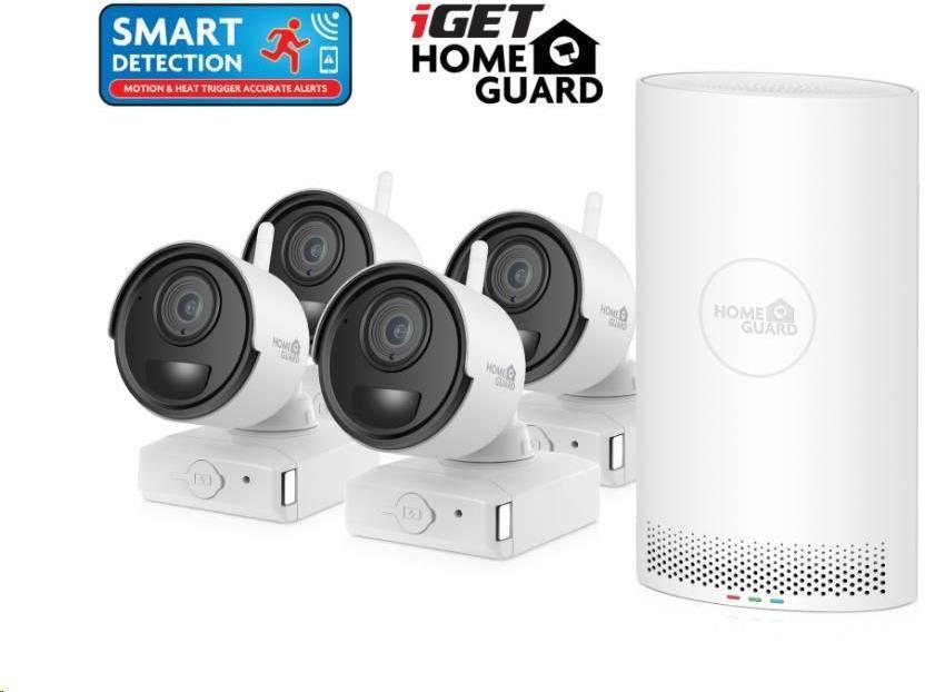iGET HOMEGUARD HGNVK68004 Bezdrátový bateriový WiFi Full HD systém (6-kanálový Full HD NVR) + 4x (HGNVK68004)