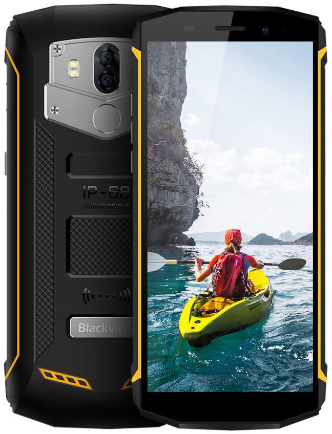 "IGET Blackview GBV5800 Yellow odolný telefon, 5,5"" IPS, 2GB+16GB, DualSIM, 4G, IP68, Android 8.1 (GBV5800 Yellow)"