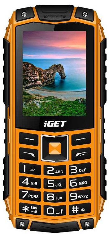IGET Defender D10 Orange - odolný telefon IP68, DualSIM, 2500 mAh, BT, powerbanka, svítilna, FM (D10 Orange)