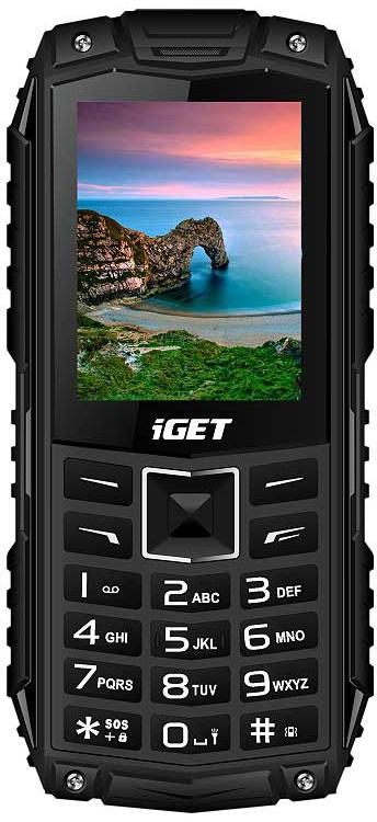 IGET Defender D10 Black - odolný telefon IP68, DualSIM, 2500 mAh, BT, powerbanka, svítilna, FM, MP3 (D10 Black)