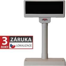 VIRTUOS LCD zákaznický displej Virtuos FL-2024LW 2x20, USB, 5V, béžový (EJA0013)