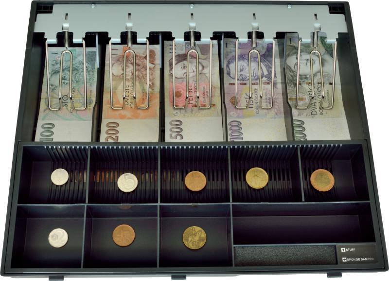 VIRTUOS Plastový pořadač na peníze pro C425, kovové držáky bankovek (EKN9020)