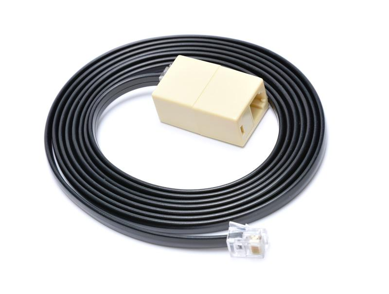 VIRTUOS Prodlužovací kabel RJ12 pro pokladní zásuvku,2m,če (EKA9903)