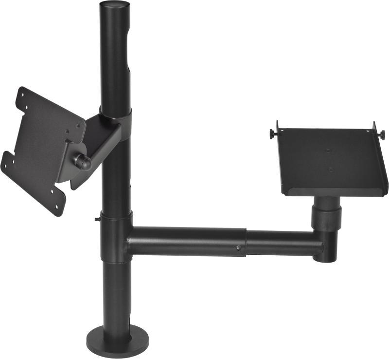 VIRTUOS Pole - Sestava - stojan 500 mm s prodluž. ramenem a držáky VESA a pokladní tiskárny (EAX2055)